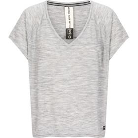 super.natural W's Jonser T-Shirt Ash Melange/Jet Black Namaste Print